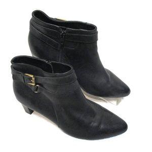 Lauren Ralph Lauren Black Leather Boots ankle 10 B